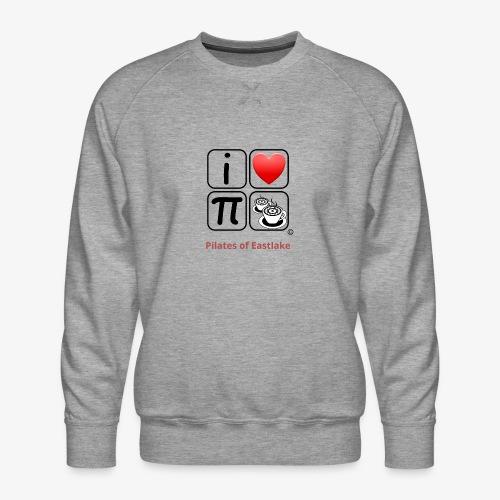 I love Pilates black and white - Men's Premium Sweatshirt