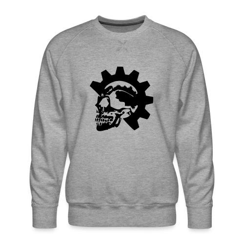 Gearhead Skull - Men's Premium Sweatshirt