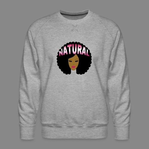 Natural Afro (Pink) - Men's Premium Sweatshirt