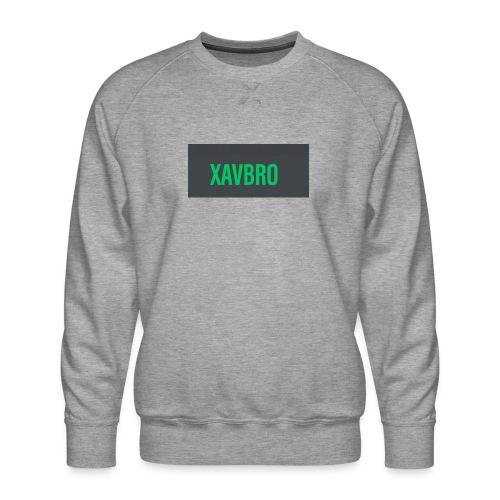 xavbro green logo - Men's Premium Sweatshirt