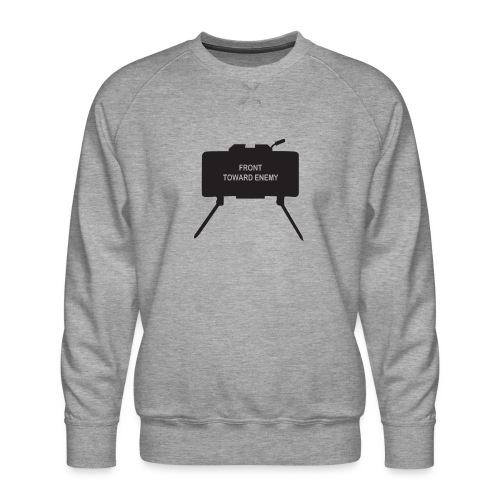 Claymore Mine (Minimalist/Dark) - Men's Premium Sweatshirt
