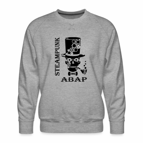 Steampunk Skull - Men's Premium Sweatshirt