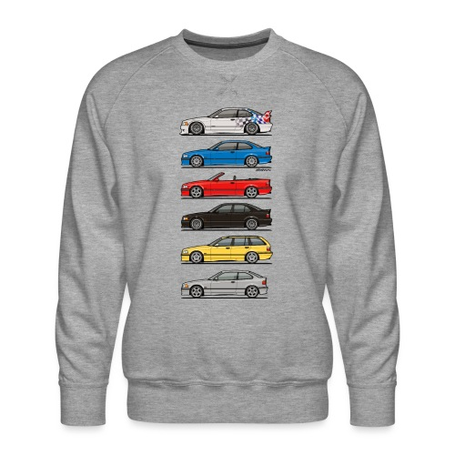 Stack of E36 Variants - Men's Premium Sweatshirt