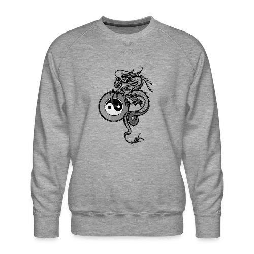 dragon with yin yang - Men's Premium Sweatshirt
