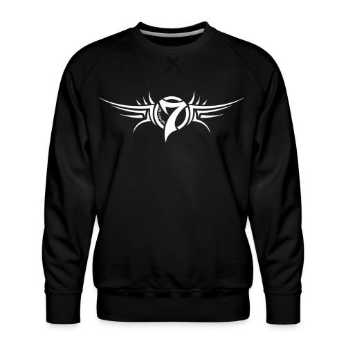 MayheM-7 Tattoo Logo White - Men's Premium Sweatshirt