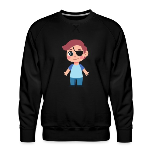 Boy with eye patch - Men's Premium Sweatshirt