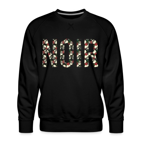 noir dark black - Men's Premium Sweatshirt