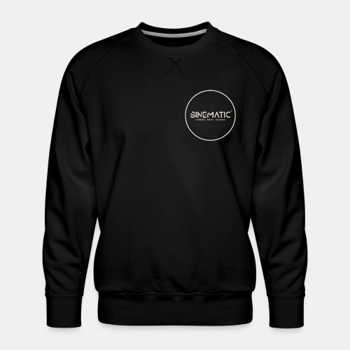 Logo Sinematic White on Black - Men's Premium Sweatshirt