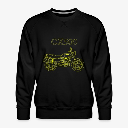 CX500 line drawing - Men's Premium Sweatshirt