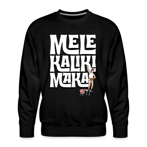 Mele Kalikimaka Cousin Eddie at the Swimming Pool - Men's Premium Sweatshirt