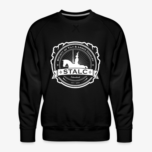 STALC Logo White only - Men's Premium Sweatshirt