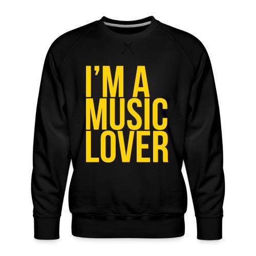 Music Lover big - Men's Premium Sweatshirt