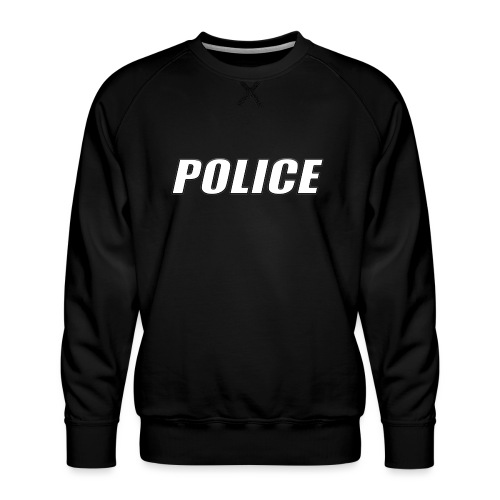 Police White - Men's Premium Sweatshirt