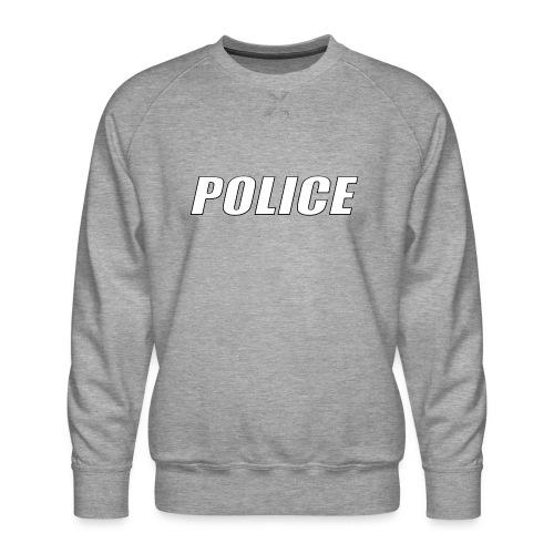 Police White - Men's Premium Sweatshirt