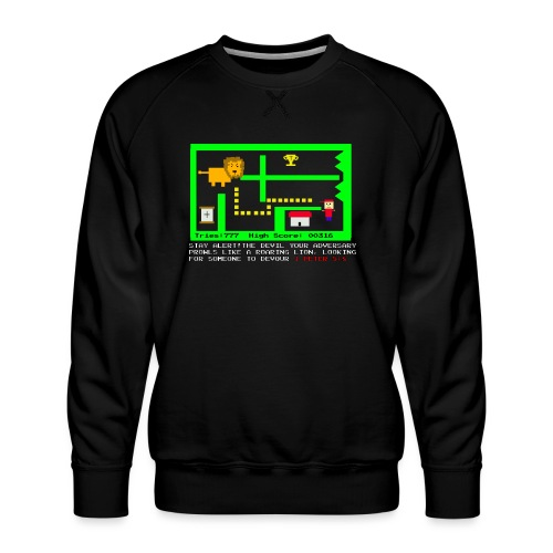 The Lion Adversary - Men's Premium Sweatshirt