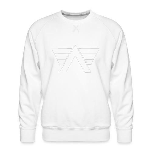 Bordeaux Sweater White AeRo Logo - Men's Premium Sweatshirt