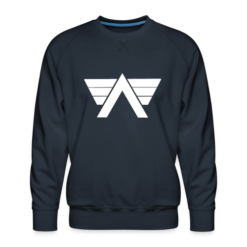 Bordeaux Sweater White AeRo Logo - Men's Premium Sweatshirt