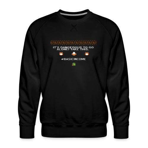 Legend of #Basicincome - Men's Premium Sweatshirt