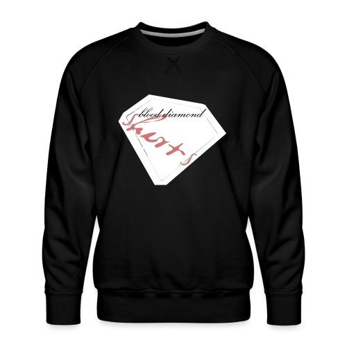 Blood Diamond -white logo - Men's Premium Sweatshirt