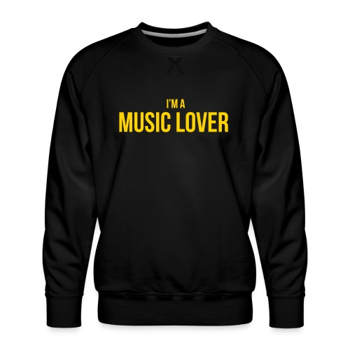 Music Lover small - Men's Premium Sweatshirt