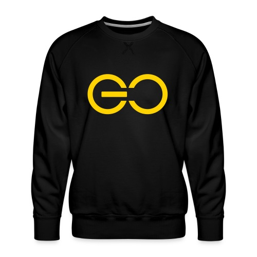 GO logo big - Men's Premium Sweatshirt