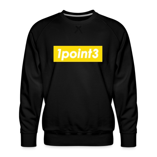1point3 yellow - Men's Premium Sweatshirt