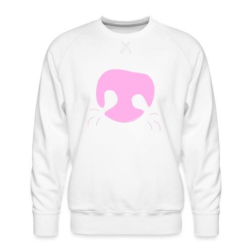 Pink Whimsical Dog Nose - Men's Premium Sweatshirt