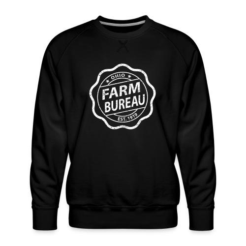 White Distressed Logo - Men's Premium Sweatshirt