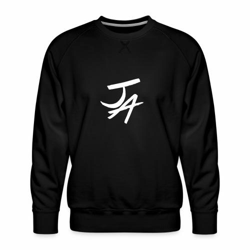 Jake Amodio White Logo - Men's Premium Sweatshirt