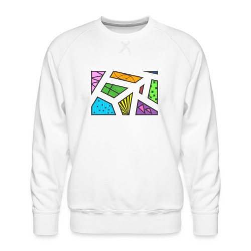 geometric artwork 1 - Men's Premium Sweatshirt