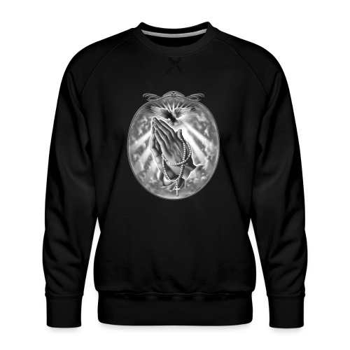 Praying Hands by RollinLow - Men's Premium Sweatshirt