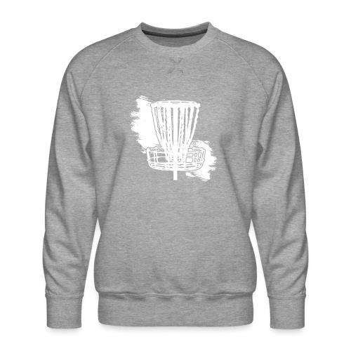Disc Golf Basket White Print - Men's Premium Sweatshirt