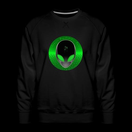 Psychedelic Alien Dolphin Green Cetacean Inspired - Men's Premium Sweatshirt