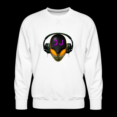 Alien DJ - Orange - Hard Shell Bug - Men's Premium Sweatshirt