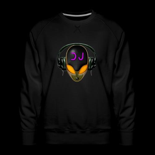 Alien DJ - Orange - Hard Shell Bug - Men's Premium Sweatshirt