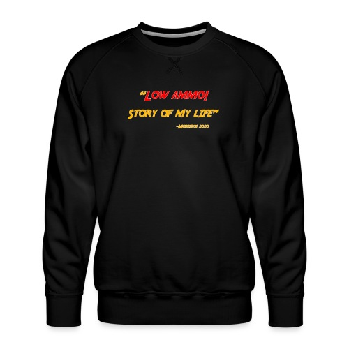 Logoed back with low ammo front - Men's Premium Sweatshirt
