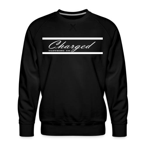 Charged L1ne WHT - Men's Premium Sweatshirt