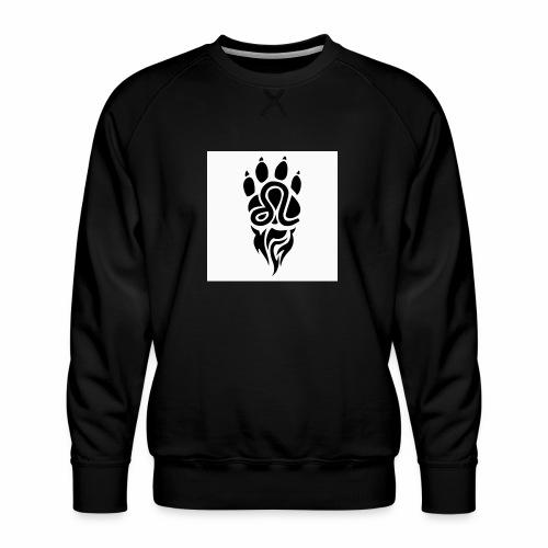Black Leo Zodiac Sign - Men's Premium Sweatshirt