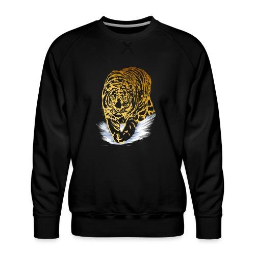 Golden Snow Tiger - Men's Premium Sweatshirt
