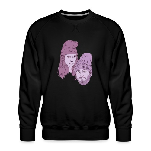 Hila and Ethan from h3h3productions - Men's Premium Sweatshirt