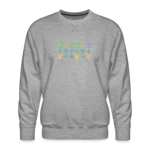custom coloured LV pattern. - Men's Premium Sweatshirt