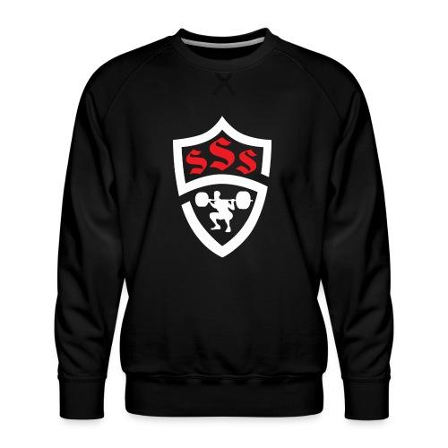Logo Only White and Red - Men's Premium Sweatshirt