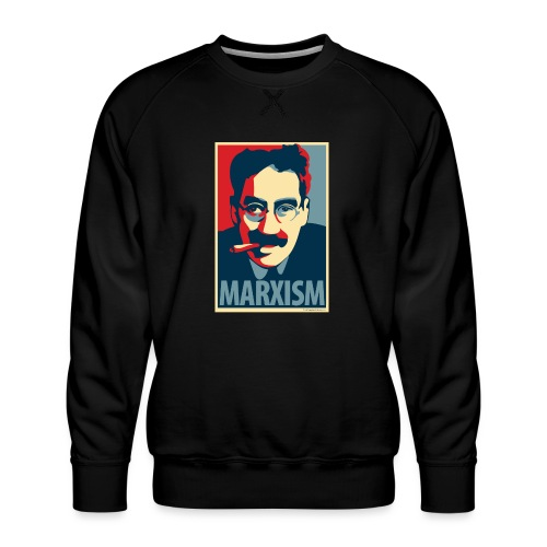 Marxism: Obama Poster Parody - Men's Premium Sweatshirt