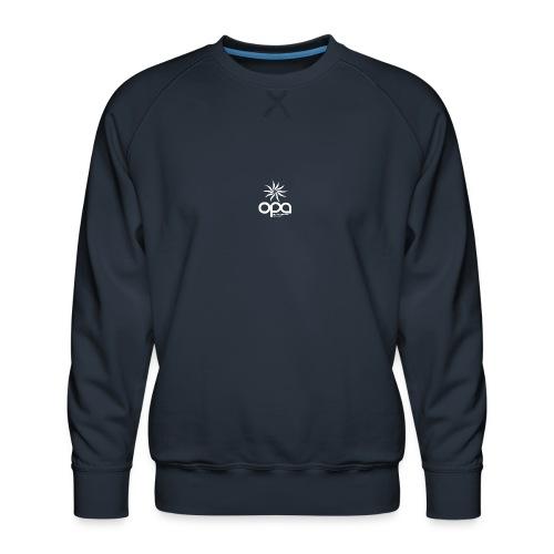 Long-sleeve t-shirt with small white OPA logo - Men's Premium Sweatshirt