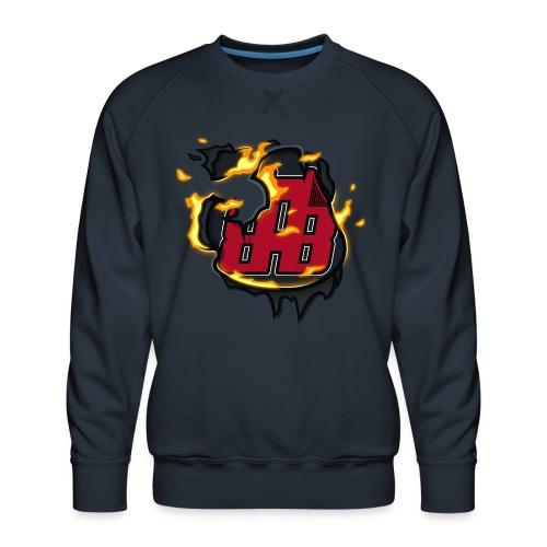 BAB Logo on FIRE! - Men's Premium Sweatshirt