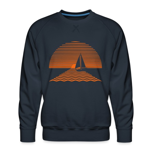 Sunset Sailboat - Men's Premium Sweatshirt