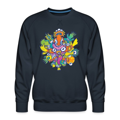 Don't let this evil monster gobble our friend - Men's Premium Sweatshirt