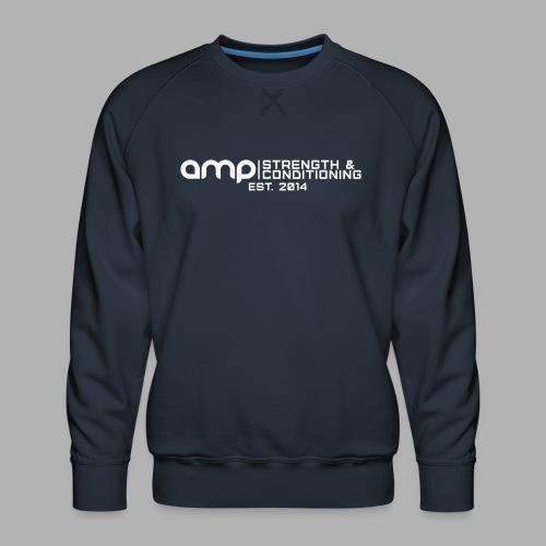 AMP Long Logo EST WHT - Men's Premium Sweatshirt