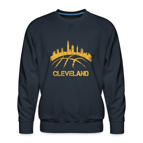 Cleveland Basketball Skyline - Men's Premium Sweatshirt