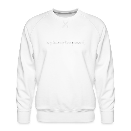 Pick up the poo dog shirt - Men's Premium Sweatshirt